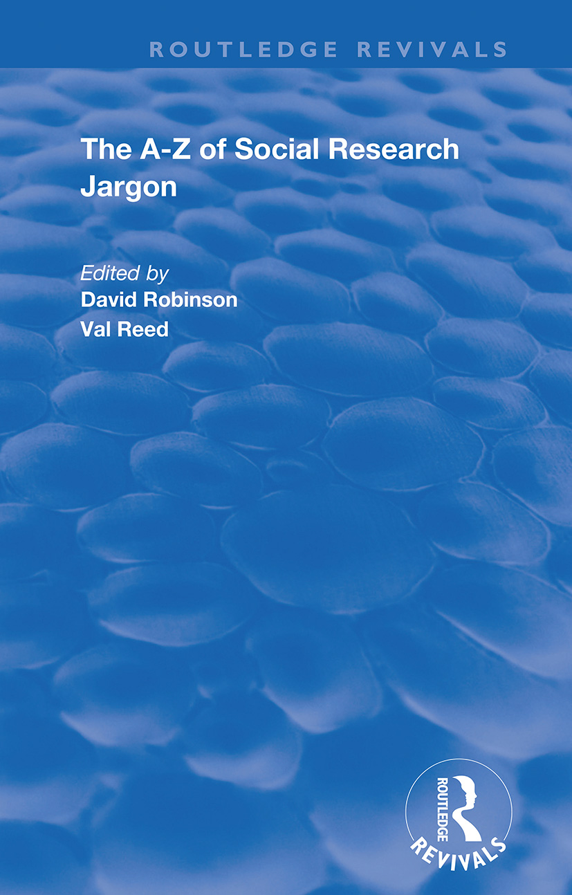 The A–Z of Social Research Jargon book cover