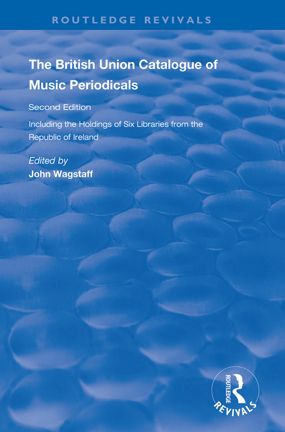 The British Union Catalogue of Music Periodicals book cover