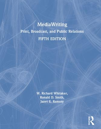 MediaWriting: Print, Broadcast, and Public Relations book cover