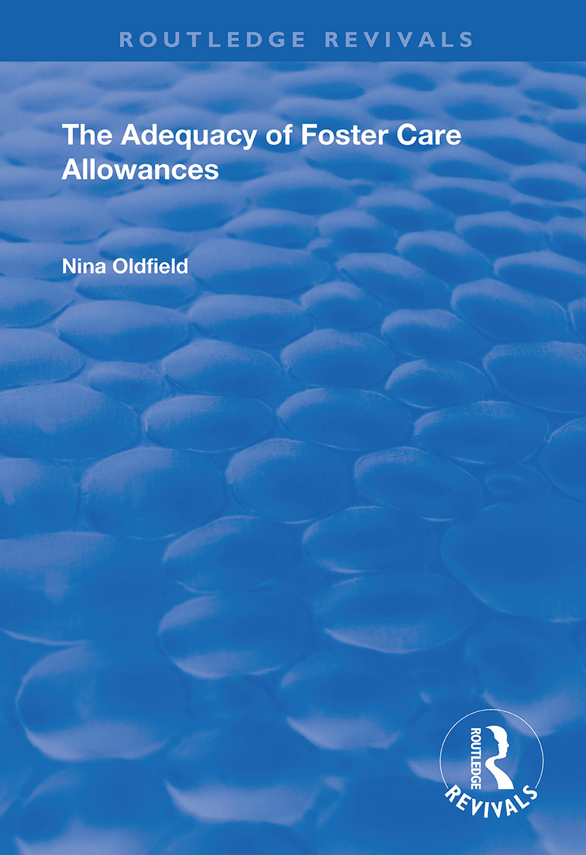 The Adequacy of Foster Care Allowances book cover