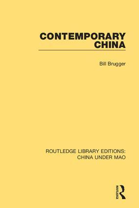 Contemporary China: 1st Edition (Hardback) book cover