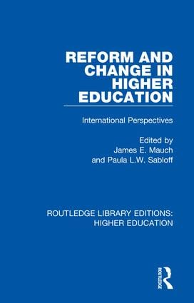 Reform and Change in Higher Education: International Perspectives book cover
