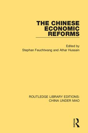 The Chinese Economic Reforms book cover