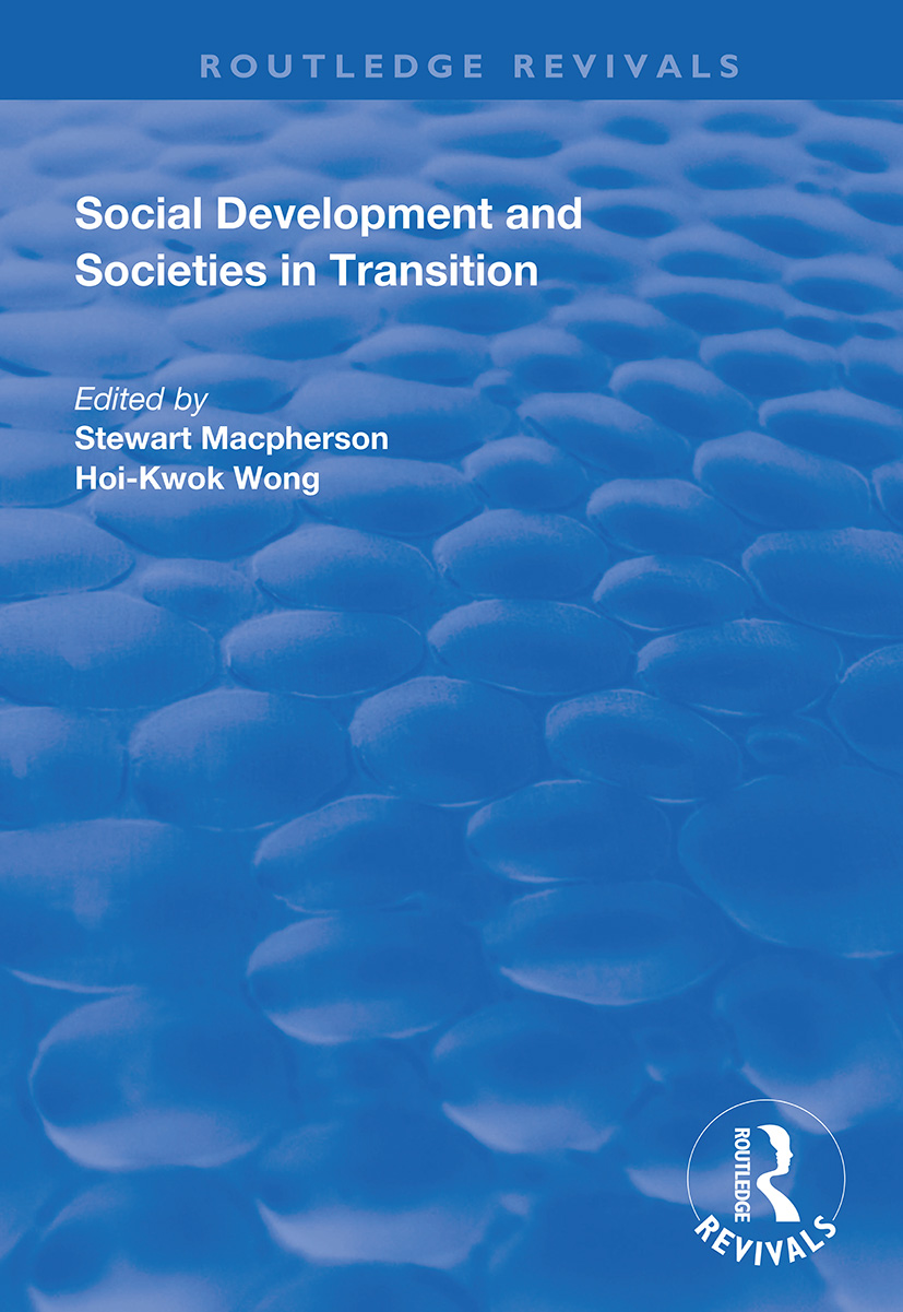 Social Development and Societies in Transition: 1st Edition (Paperback) book cover