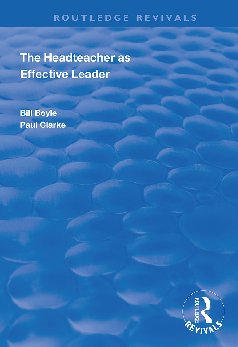 The Headteacher as Effective Leader book cover