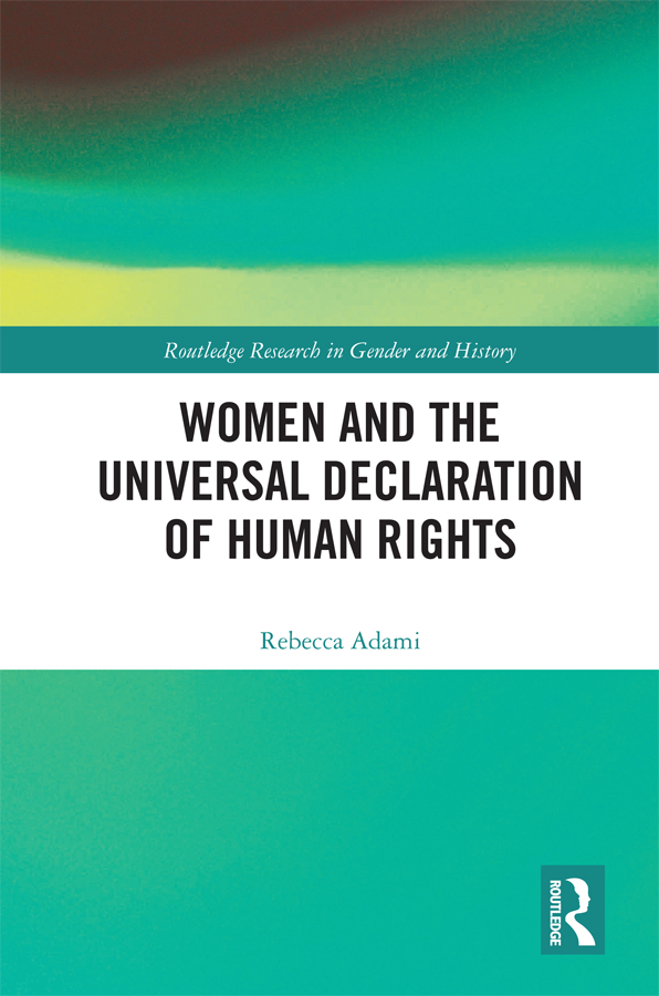 Women and the Universal Declaration of Human Rights: 1st Edition (Hardback) book cover
