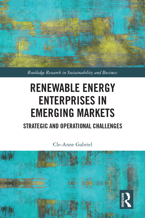 Renewable Energy Enterprises in Emerging Markets: Strategic and Operational Challenges, 1st Edition (Hardback) book cover