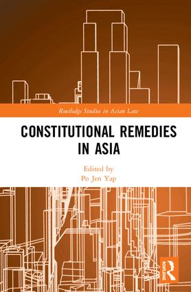 Constitutional Remedies in Asia book cover