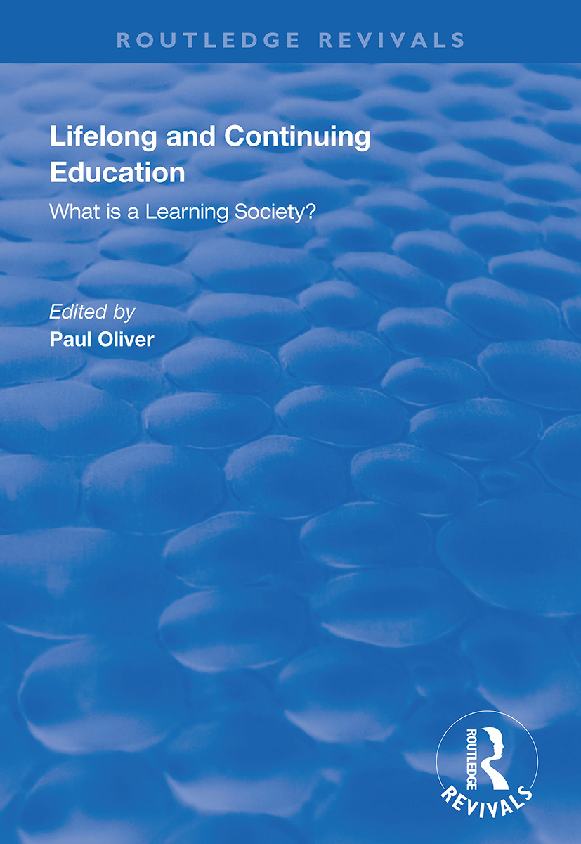 Lifelong and Continuing Education: What is a Learning Society? book cover