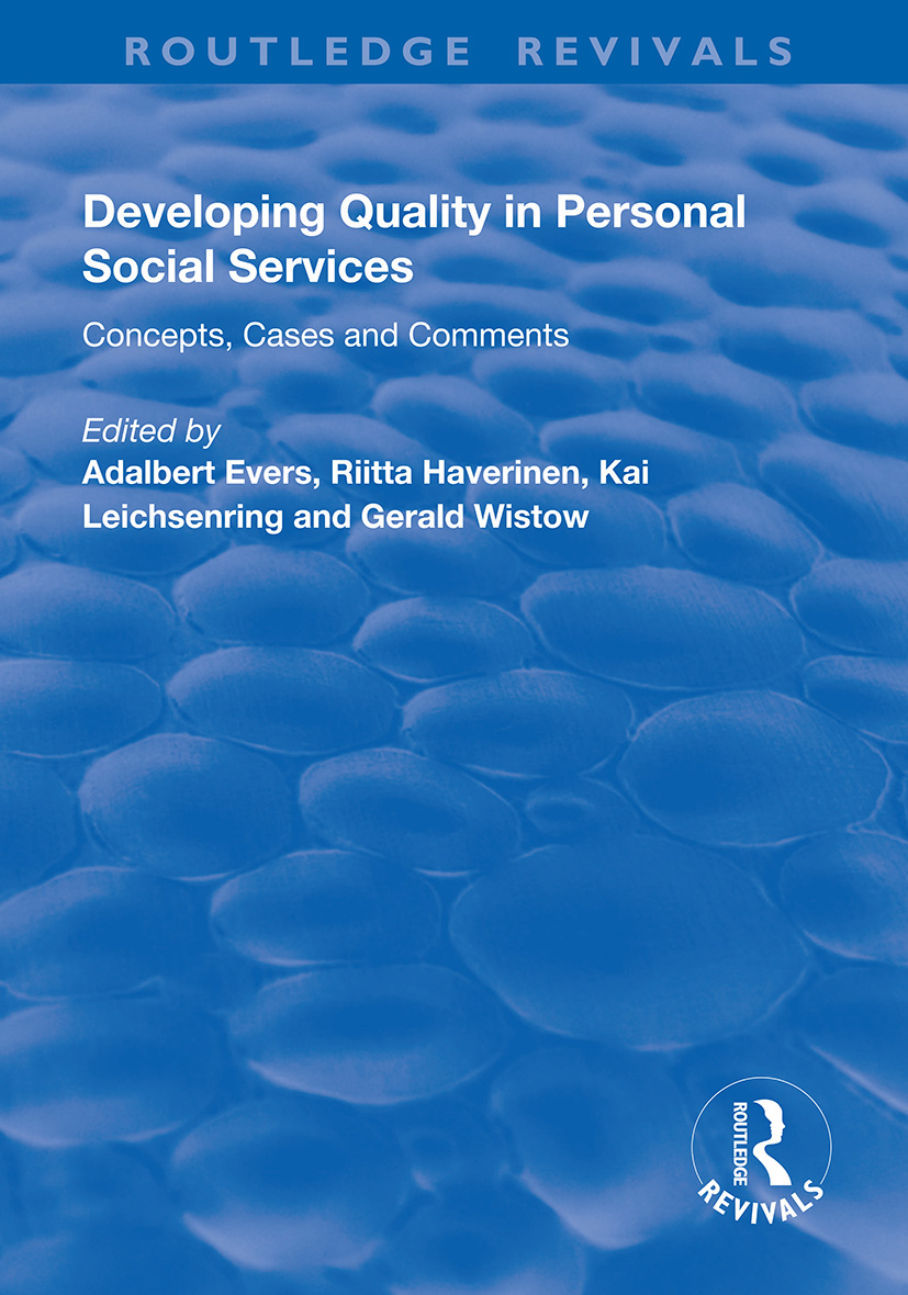 Developing Quality in Personal Social Services