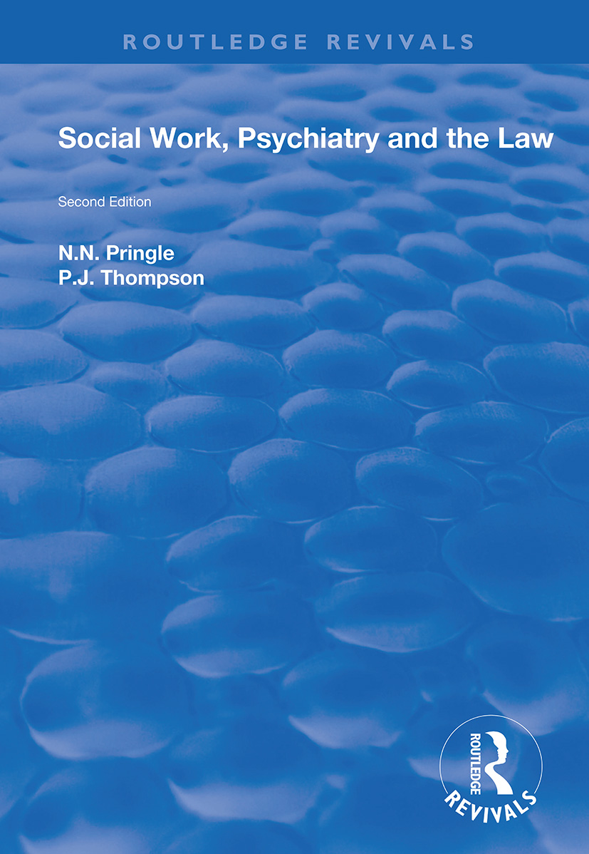 Social Work, Psychiatry and the Law: Second Edition book cover
