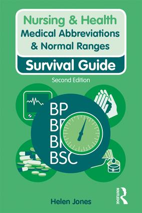 Medical Abbreviations & Normal Ranges: Survival Guide book cover