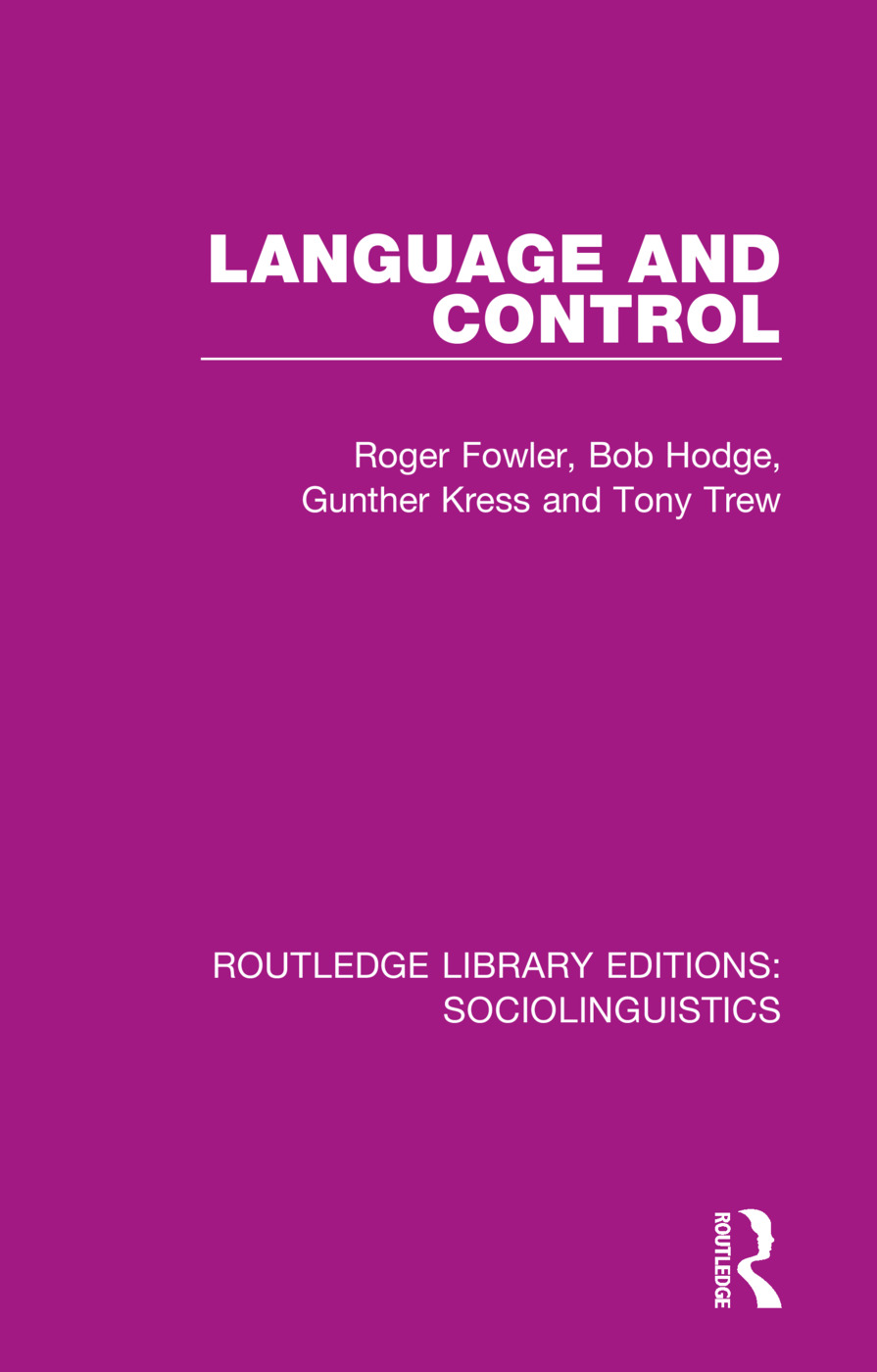 Language and Control book cover