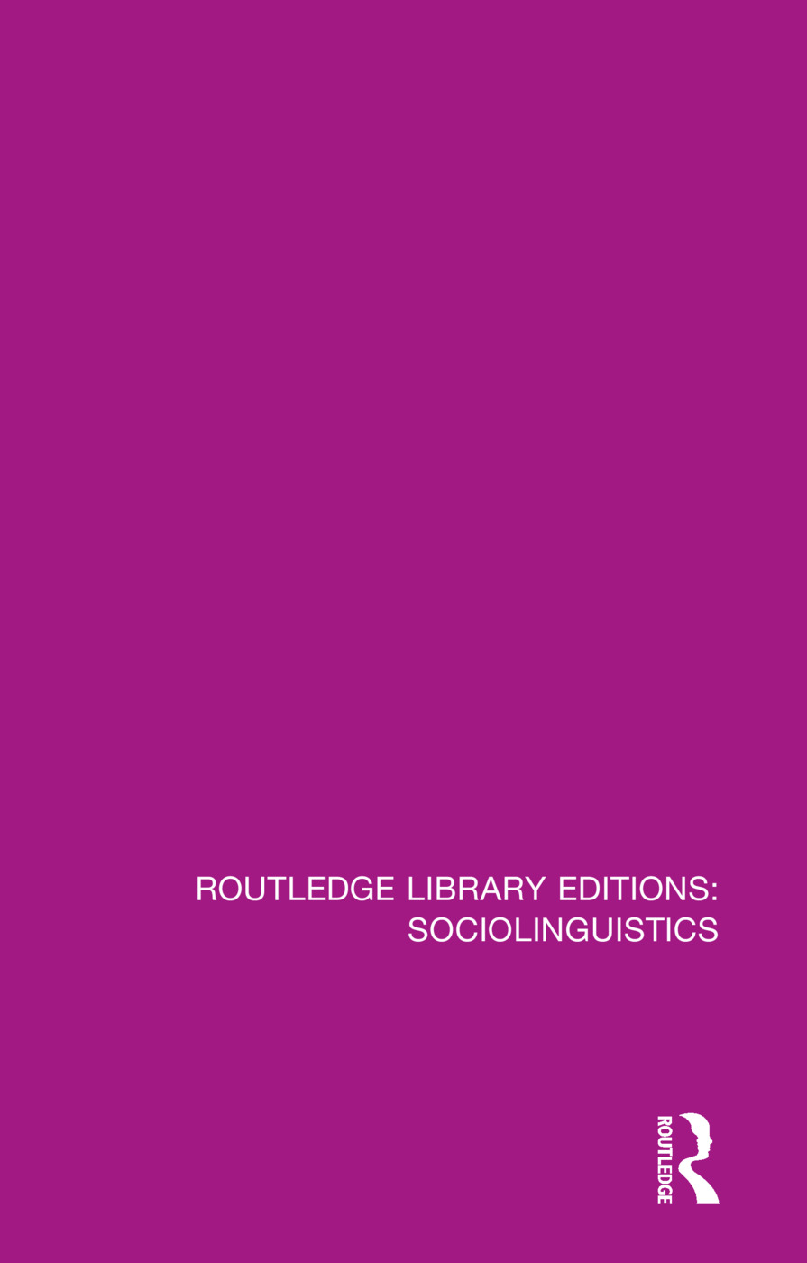 Sociolinguistics: A Sociological Critique book cover