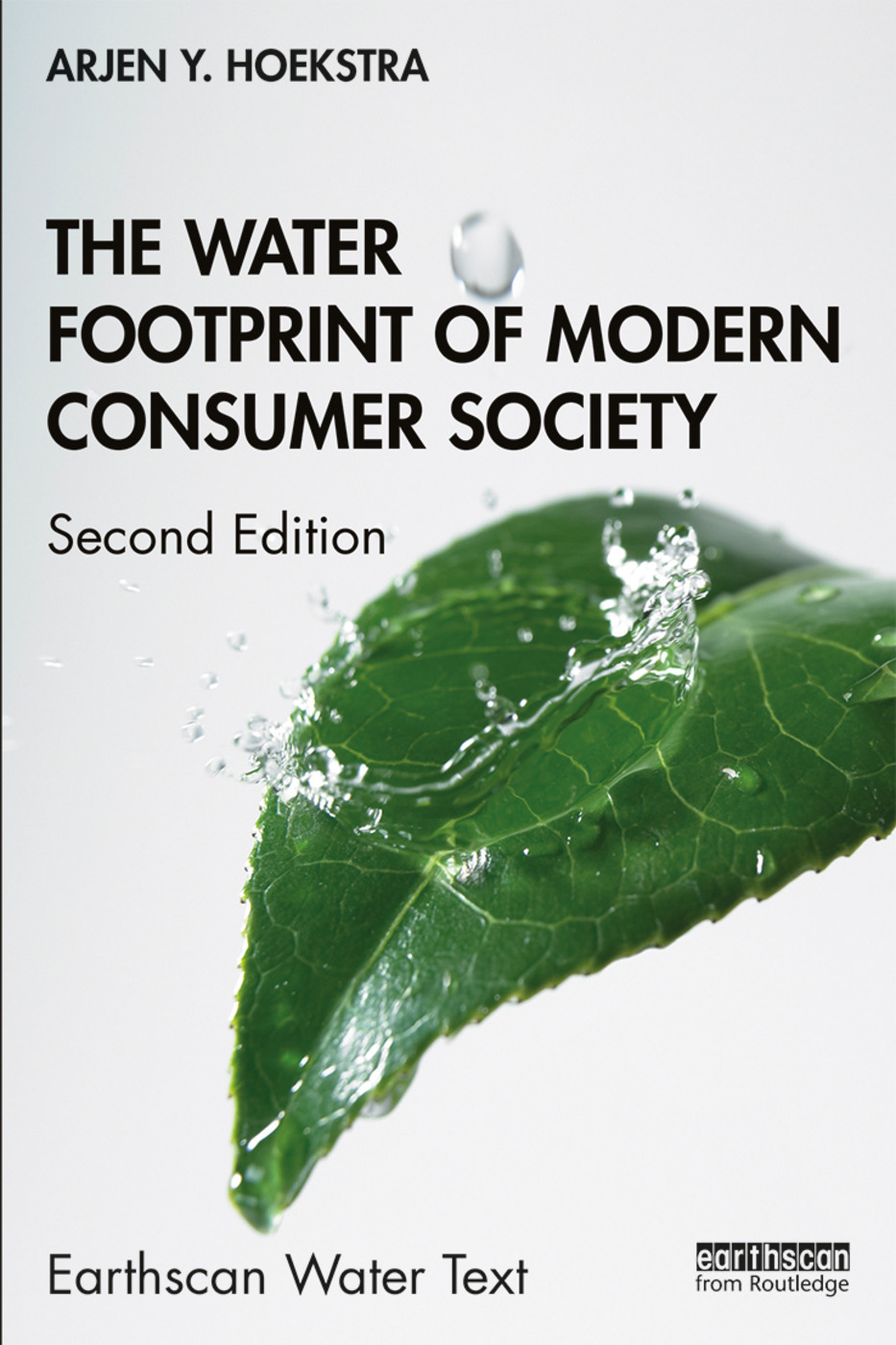 The Water Footprint of Modern Consumer Society book cover