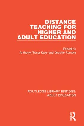 Distance Teaching For Higher and Adult Education book cover