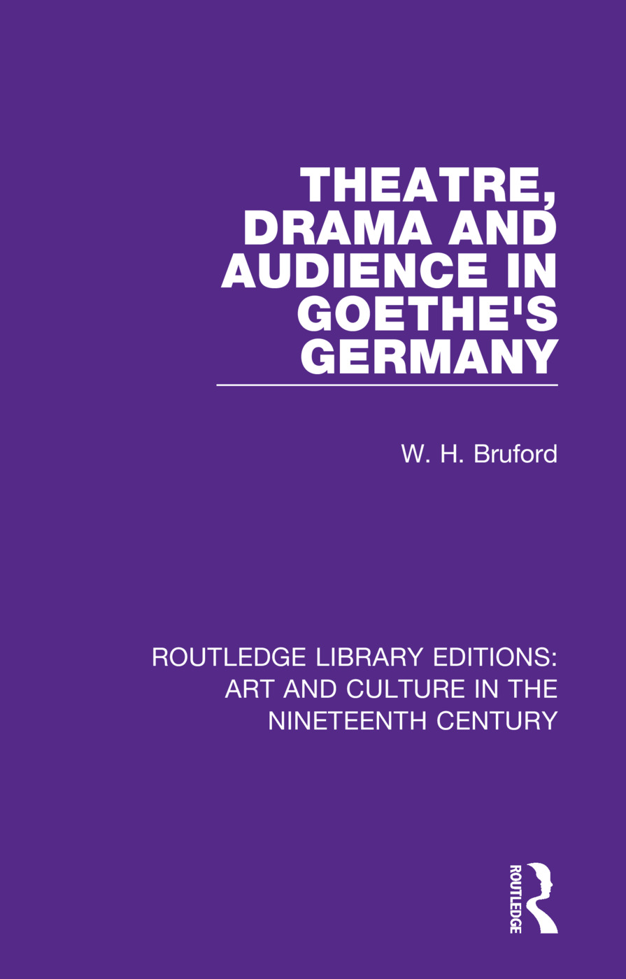 Theatre, Drama and Audience in Goethe's Germany book cover