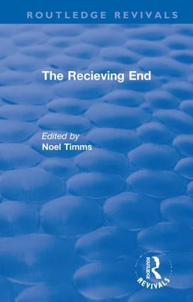 The Receiving End: 1st Edition (Hardback) book cover