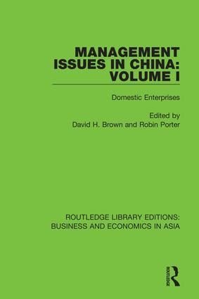 Management Issues in China: Volume 1: Domestic Enterprises book cover