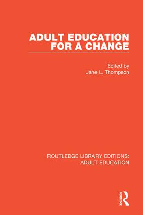 Adult Education For a Change: 1st Edition (Hardback) book cover