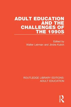Adult Education and the Challenges of the 1990s book cover