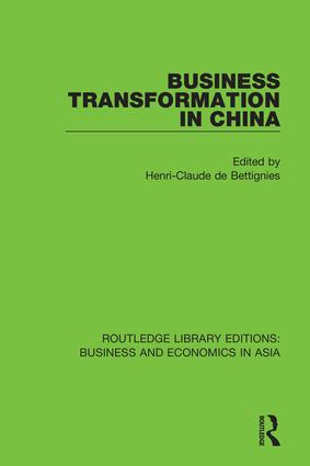 Business Transformation in China: 1st Edition (Hardback) book cover