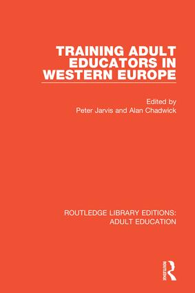 Training Adult Educators in Western Europe book cover