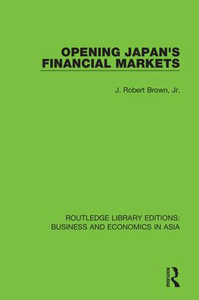 Opening Japan's Financial Markets book cover