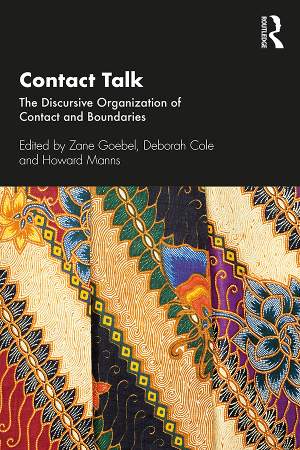 Contact Talk: The Discursive Organization of Contact and Boundaries book cover