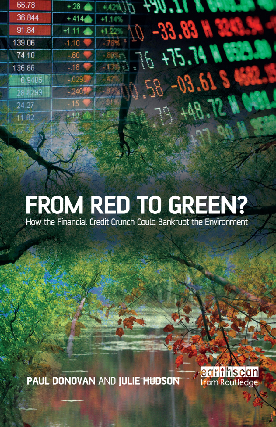 From Red to Green?: How the Financial Credit Crunch Could Bankrupt the Environment book cover