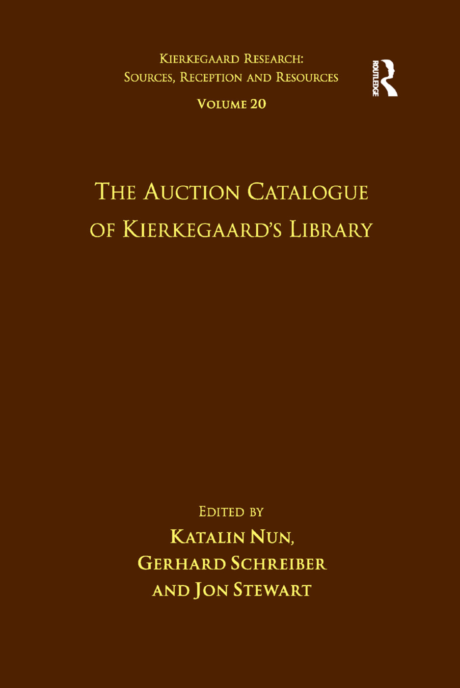 Volume 20: The Auction Catalogue of Kierkegaard's Library: 1st Edition (Paperback) book cover