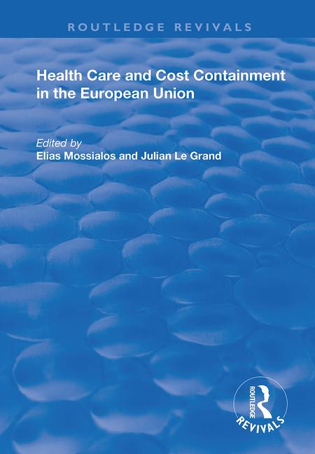 Health Care and Cost Containment in the European Union book cover