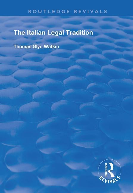 The Italian Legal Tradition