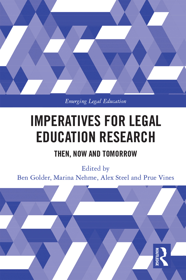 Imperatives for Legal Education Research: Then, Now and Tomorrow book cover