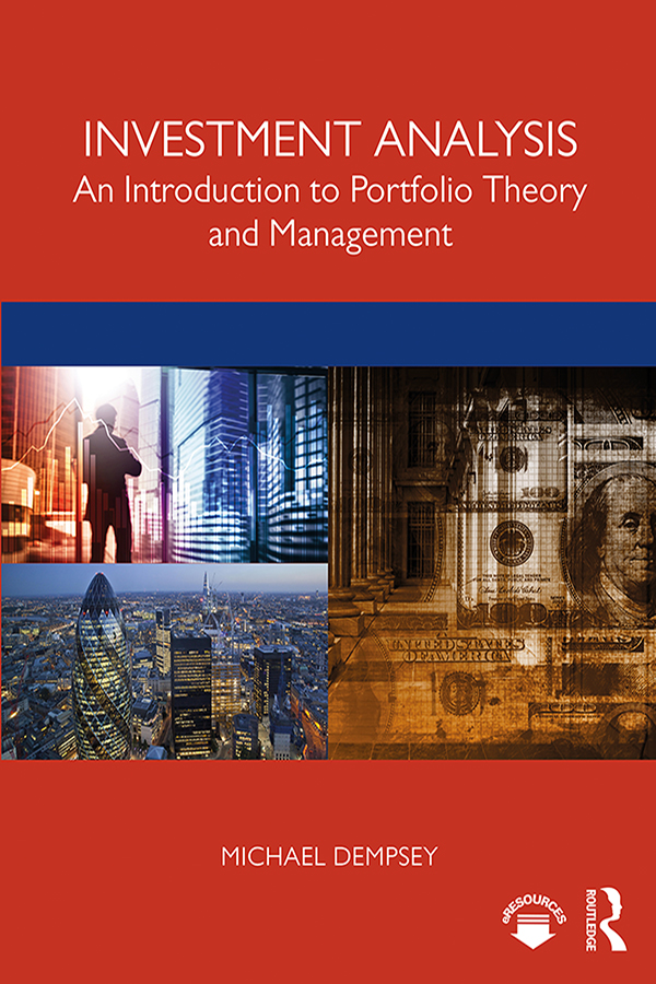 Investment Analysis: An Introduction to Portfolio Theory and Management, 1st Edition (e-Book) book cover