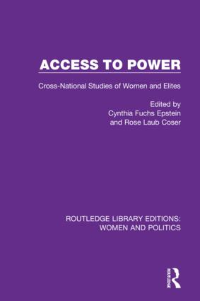 Access to Power: Cross-National Studies of Women and Elites, 1st Edition (Hardback) book cover
