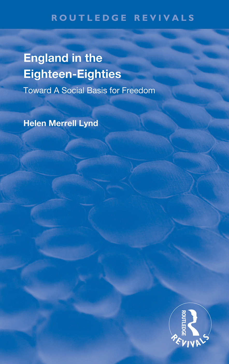 England in the Eighteen Eighties book cover