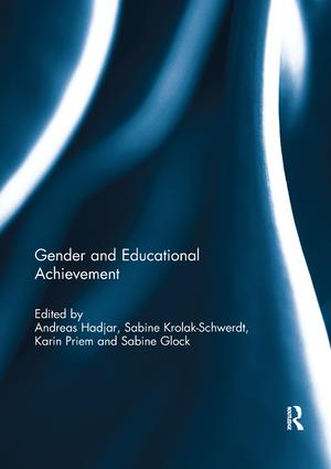 Gender and Educational Achievement: 1st Edition (Paperback) book cover
