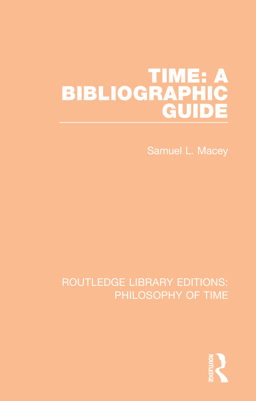 Time: A Bibliographic Guide book cover