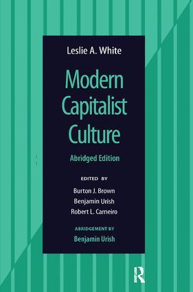 Modern Capitalist Culture, Abridged Edition: 1st Edition (Hardback) book cover
