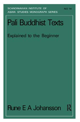 Pali Buddhism Texts Nims14: 1st Edition (Paperback) book cover