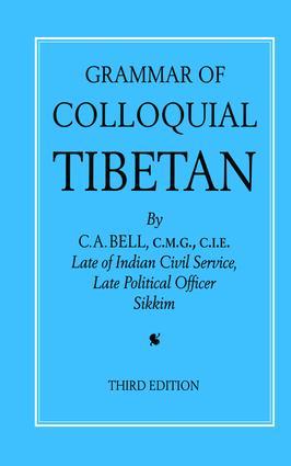 Grammar of Colloquial Tibetan (Paperback) book cover