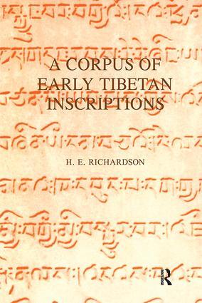 A Corpus of Early Tibetan Inscriptions: 1st Edition (Hardback) book cover