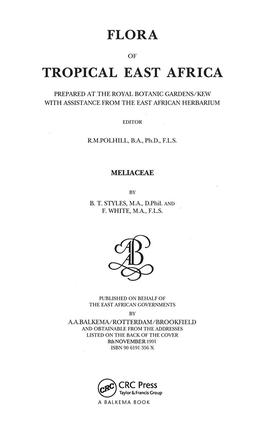 Flora of Tropical East Africa - Meliaceae (1991): 1st Edition (Paperback) book cover