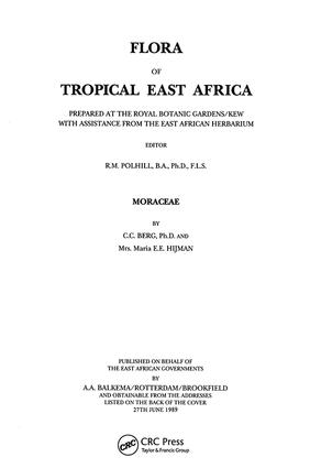 Flora of Tropical East Africa - Moraceae (1989): 1st Edition (Paperback) book cover