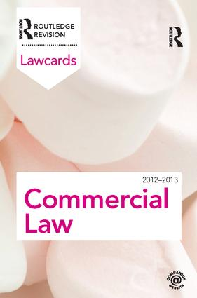 Commercial Lawcards 2012-2013: 8th Edition (Hardback) book cover