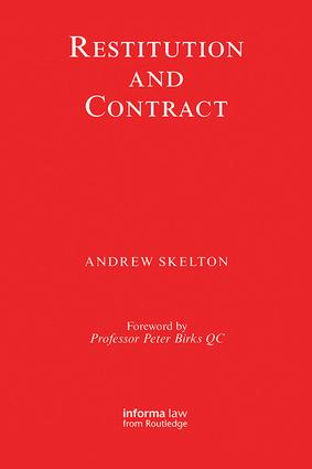Restitution and Contract: 1st Edition (Paperback) book cover