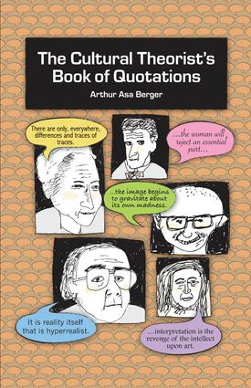 The Cultural Theorist's Book of Quotations: 1st Edition (e-Book) book cover