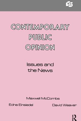 Contemporary Public Opinion: Issues and the News (Paperback) book cover