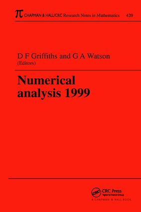 Numerical Analysis 1999: 1st Edition (Paperback) book cover